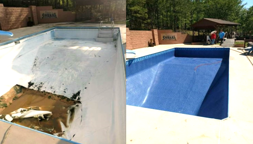 Before And After New Pool Liner